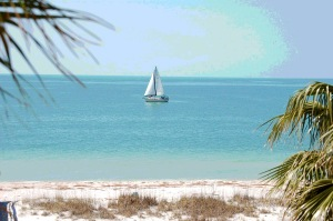 Sailing off the coast of The Gulf of Mexico, Clearwater Beach, Florida